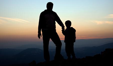 Ojciec i syn na szczycie